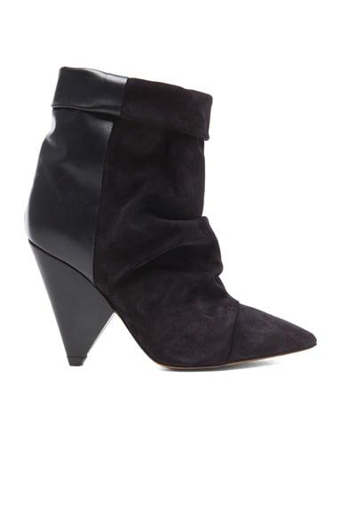 Andrew Calfskin Velvet Leather Boots