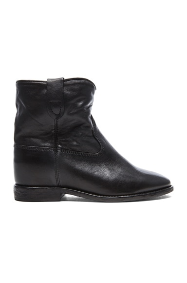 Isabel Marant Cluster Leather Boots Leather in Black