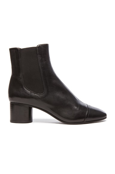 Isabel Marant Danae Chelsea Leather Boots in Black