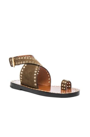 Jools Eyelet Velvet Sandals