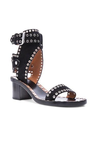 Jaeryn Eyelet Velvet Sandals
