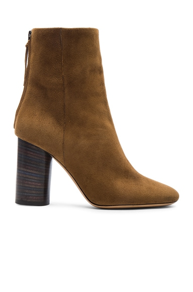Isabel Marant Garett Velvet Boots in Brown