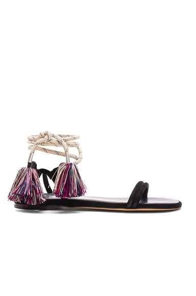 Isabel Marant Suede Astrid Cook Sandals in Black
