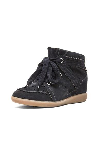 Bobby Calfkin Velvet Leather Sneakers