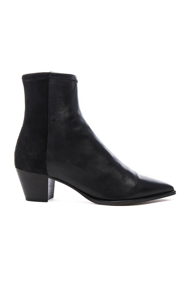 Isabel Marant Dabbs Velvet & Leather Boots in Black