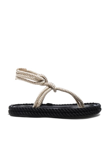 Isabel Marant Lesley Rope Sandals in Ecru