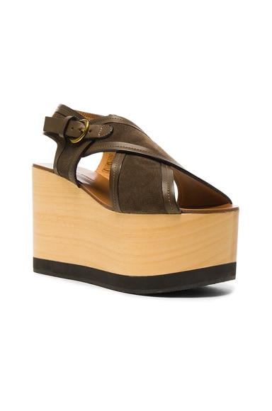 Suede Zlova Wedge Sandals