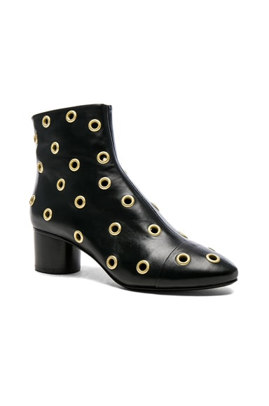 Eyelet Leather Danay Ankle Boots