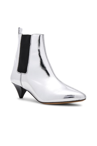 Metallic Leather Dawell New Vintage Booties