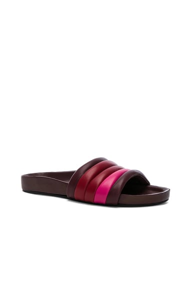 Leather Hellea Slides