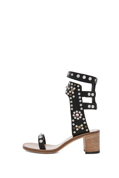 Caroll Strassed and Studded Sandals