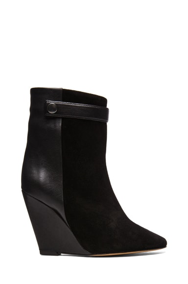 Purdey Calfskin Velvet & Leather Booties