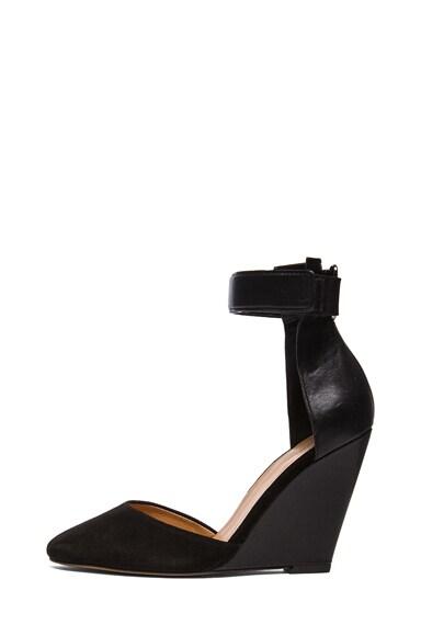 Patty Calfskin Leather Wedge Heels