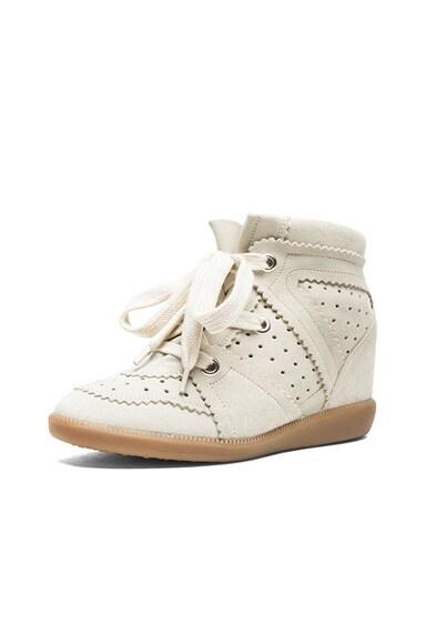 Bobby Calfskin Velvet Leather Sneakers