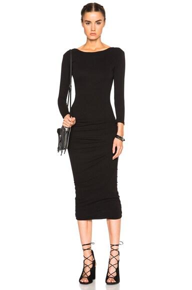 James Perse Low Back Skinny Dress in Black