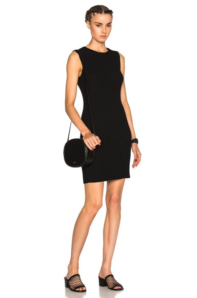 James Perse Ribbed Shell Dress in Black