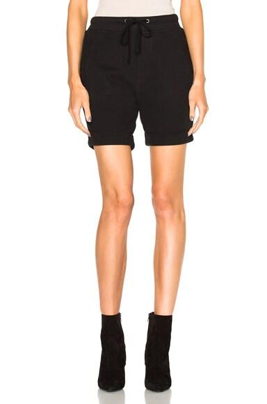James Perse Cotton Fleece Shorts in Black
