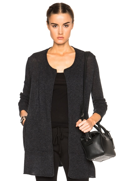 James Perse Cashmere Cardigan in Anthracite