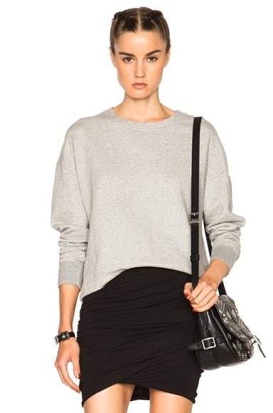 James Perse French Terry Sweatshirt in Heather Grey