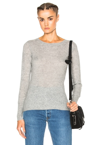 James Perse Thermal Crew Sweater in Heather Grey