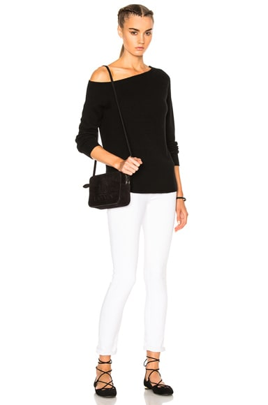 Off Shoulder Cashmere Sweater