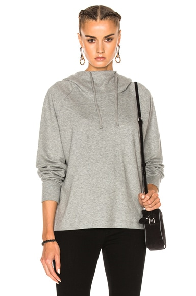 James Perse Oversize Hoodie Sweatshirt in Heather Grey