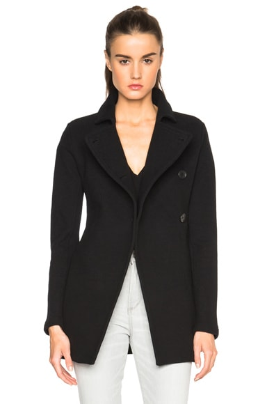 James Perse Asymmetric Military Jacket in Black