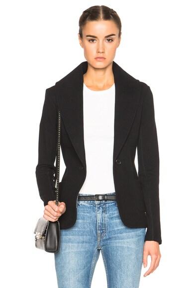 James Perse Shawl Collar Blazer in Black