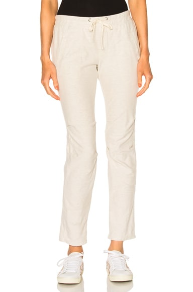 James Perse Heathered Twill Pant in Heather Natural