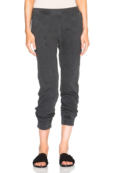 James Perse Mini Twill Pants in Carbon