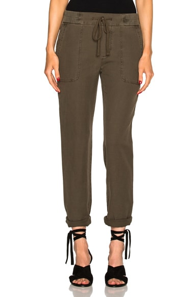 James Perse Slip Linen Trouser Pants in Platoon