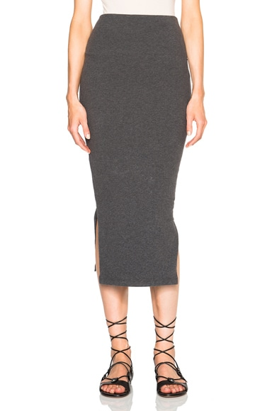 James Perse Double Split Mini Skirt in Heather Charcoal