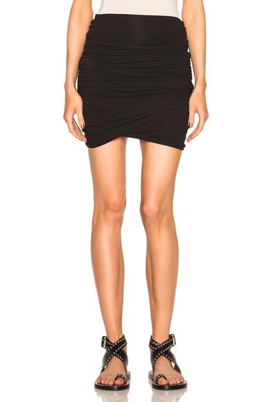 James Perse High Waist Wrap Skirt in Black