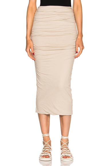 James Perse Shirred Tube Skirt in Driftwood
