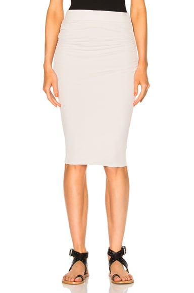 James Perse Double Shirring Skirt in Talc