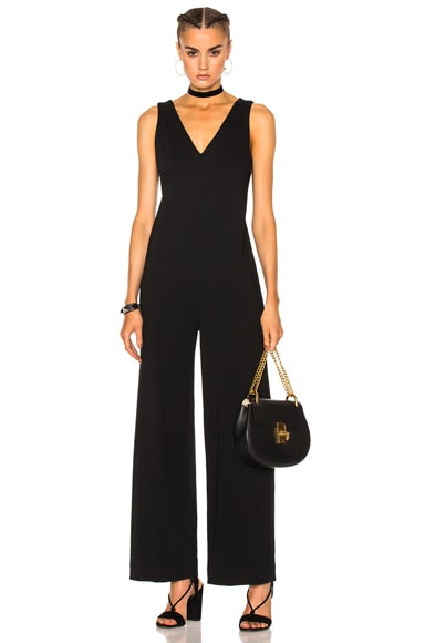 James Perse Palazzo Jumpsuit in Black