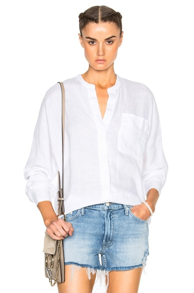 James Perse Dolman Tunic Top in White