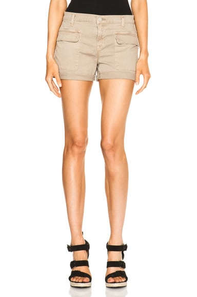 J Brand Kai Shorts in Quicksand