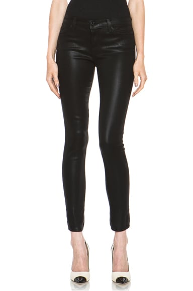 Mid-Rise Coated Super Skinny Jean