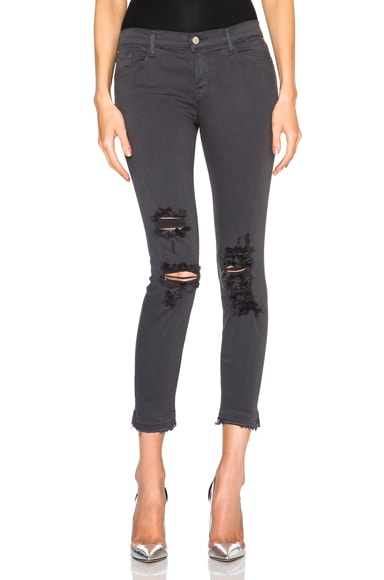 J Brand Ripped Low Rise in Delirious Grey