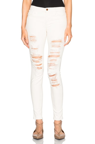 J Brand Ripped Mid Cream in Divo