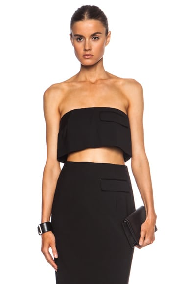 Cropped Strapless Viscose-Blend Top
