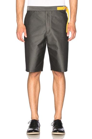 Jil Sander Contrast Tab Shorts in Dark Grey