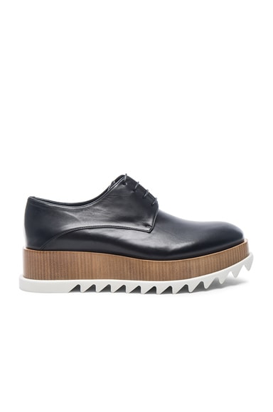 Jil Sander Leather Creepers in Nero