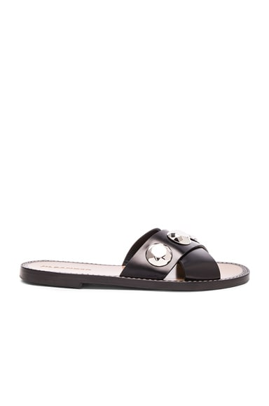 Jil Sander Leather Sandals in Nero