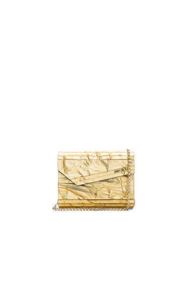 Jimmy Choo Candy Clutch in Gold