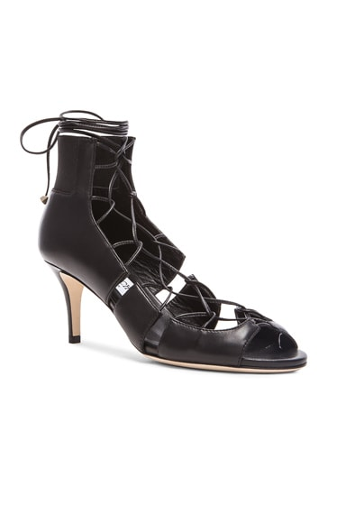 Myrtle Leather Lace Up Heels