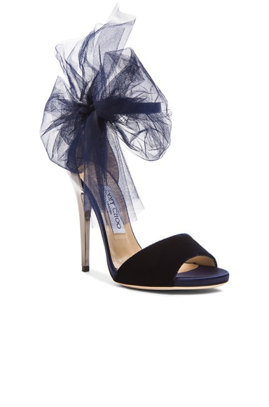 Lilyth Satin and Velvet Heels
