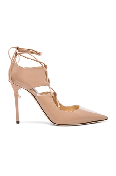 Jimmy Choo Hoops Leather Heels in Ballet Pink