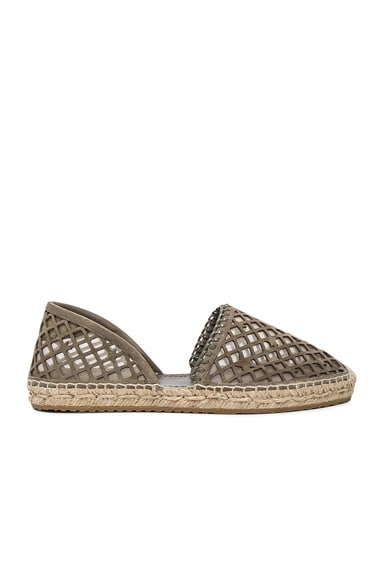 Jimmy Choo Suede Dreya Espadrilles in Light Khaki